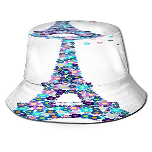 Unisex Bucket Sun Hats Eifel Tower Fashion Summer Outdoor Travel Beach Fisherman Cap
