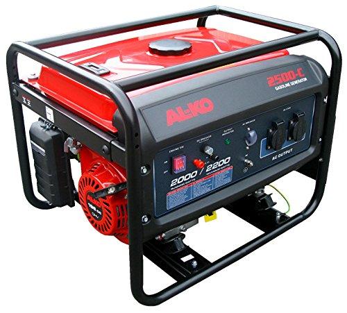 AL-KO Stromerzeuger 2500-C (2.0 kW Motorleistung, 195 ccm Hubraum, 4-Takt Motor, 2x 230 V Steckdose, 1x 12 V, großer Tank für lange Laufzeiten)