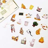40個/パック(20デザイン)猫の家DIYステッカースティックラベルノートブックアルバム日記の装飾学生ギフト
