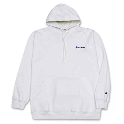 57169fabe612 Champion Mens Big and Tall Popover Hoodie with Left Chest Embroidered Logo
