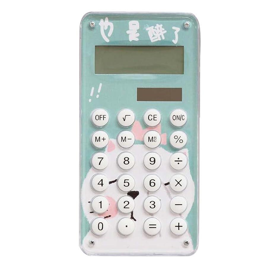 普通の減衰債権者スリム漫画環境に配慮したソーラーポータブル8桁のディスプレイ電卓 - D3