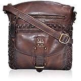 Sling Bags for Women Genuine-Leather - Vintage Multi Pocket Crossbody Purse