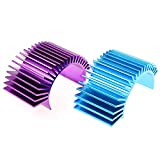 DGZZI Motor Heatsink 2PCS Racing Aluminum Electric Motor Heat Sink Radiator Cooling Fins for 540 550 3650...