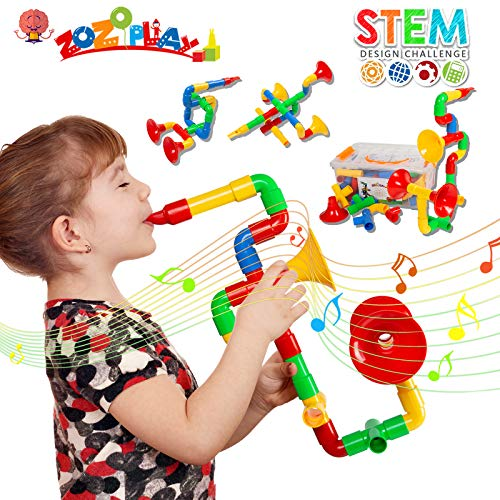 ZoZoplay STEM Toys Tube Locks 72 Piece...
