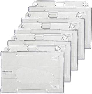 GOGO Lot de 5 Porte-badges en plastique rigide horizontal pour étiquette d'identification