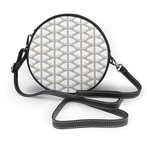 Meiya-Design Mid-Century Moderner Schultertasche aus Konawood für Rücken und Herd, rund