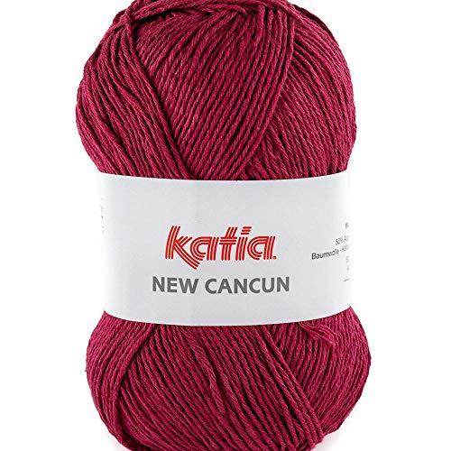 Lanas Katia New Cancun Ovillo de Color Granate Cod. 96