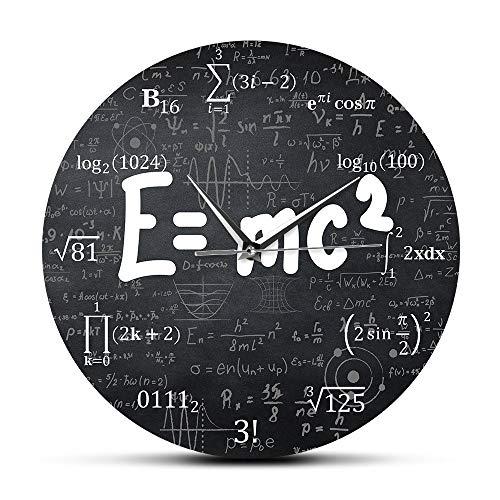 JXCDNB Albert Einstein E = mc2 relativistische Mathematikformel Freak Wanduhr Wissenschaftler Physiklehrer Geschenk Schule Klassenzimmer Dekoration