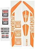 Ecoshirt Z3-YFW8-RII1 Pegatinas Stickers Fork Rock Shox Rs1 2017 Am173 Aufkleber Decals Autocollants Adesivi Forcela, Naranja