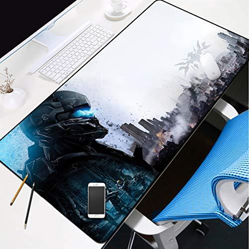 ZUDISITA Alfombrilla Gaming 800X300MM City Ruins Battle Hero Alfombrilla Raton Ordenador XXL Alfombrilla Raton, Impermeable Special-Textured Superficie para Gamers Ordenador, Pc Y Laptop