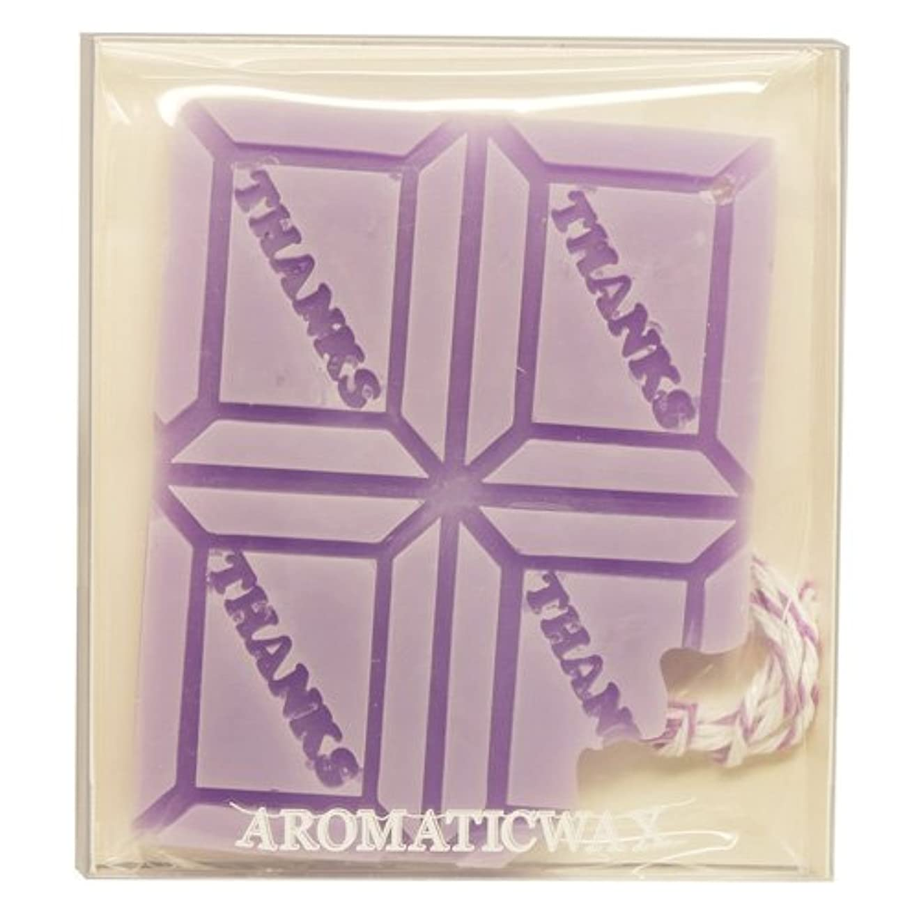 責め必要性不明瞭GRASSE TOKYO AROMATICWAXチャーム「板チョコ(THANKS)」(PU) ラベンダー アロマティックワックス グラーストウキョウ