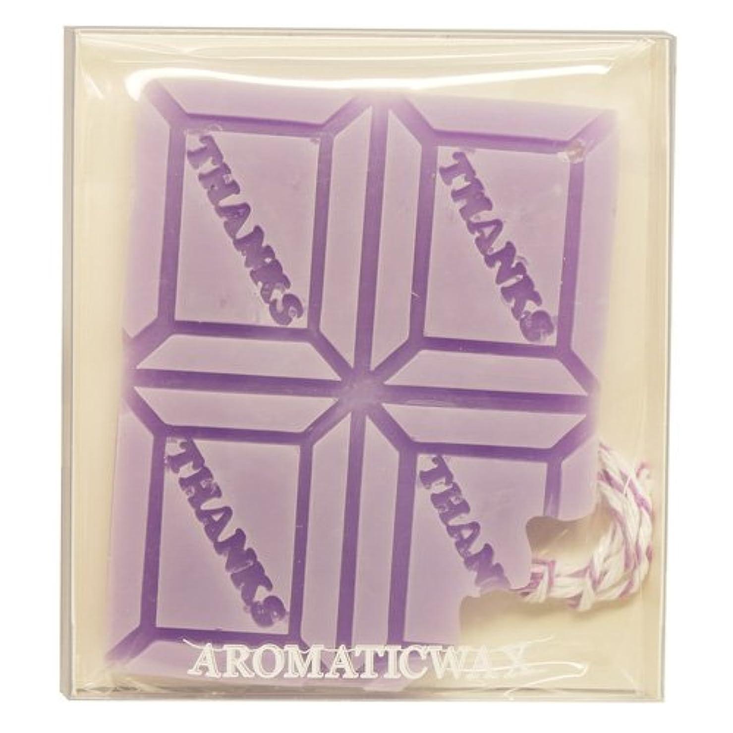 GRASSE TOKYO AROMATICWAXチャーム「板チョコ(THANKS)」(PU) ラベンダー アロマティックワックス グラーストウキョウ
