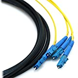 50Force 15m LC/LC 4-Strand Singlemode 9/125 Indoor/Outdoor Fiber Cable with 18' Furcated Legs