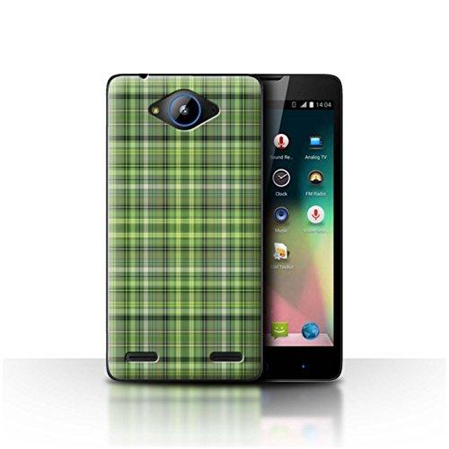 Stuff4® Hülle/Hülle für ZTE Blade L3 Plus/Irisches Plaid/Tartan Muster/Grün Mode Kollektion