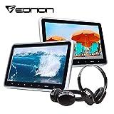 eonon 25,7cm LCD lettore DVD poggiatesta monitor per auto digitale lettore con digitale touch Button HDMI USB SD Port + cuffie IR Combo C1100A