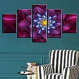5 Piece Canvas Ramo De Color Abstracto Flor Marco De Fotos Cartel Decoración De La Pared Del Hogar Marco De Arte Fotográfico Sin Marco