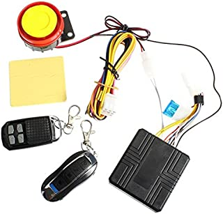 Hitommy Universal 12V Motorcycle Anti Theft Alarm System Remote Control