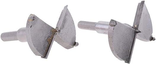 2pcs Brocas de Sierra Cortador Drill Bits de Carpinteria Herramientas Manual Eléctricas