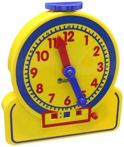 Learning Resources- Reloj Horas para los Alumnos Primary Time Teacher-Junior 24-Hour Learnig Clock, Color (LER2993)
