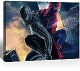 SSKJTC Impressions sur toile pour la maison, le bureau, la décoration de chambre Fond Decran Spiderman Art Décoration moderne...