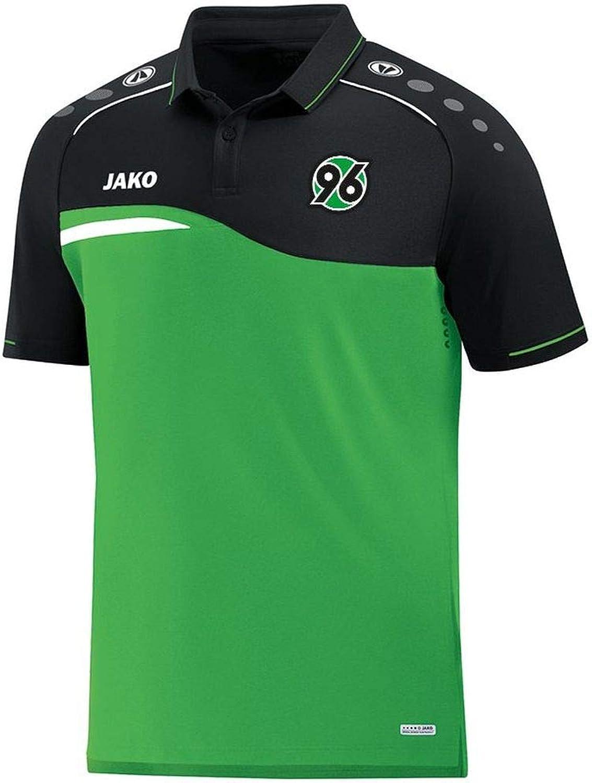 JAKO JAKO JAKO Fußball Hannover 96 Polo Competition 2.0 Kinder Poloshirt Polohemd grün schwarz B07H8B8QT1  Stabile Qualität cc83be