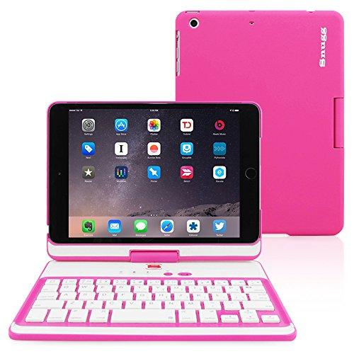iPad Mini 4 Keyboard, Snugg [Pink] Wireless Bluetooth Keyboard Case Cover 360 Degree Rotatable Keyboard for Apple iPad Mini 4