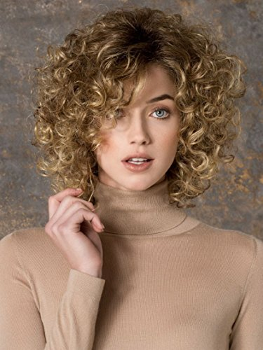 GNIMEGIL Short Curly Hair Wigs Sandy Grease Wig for White Women Synthetic Hair Brown Mixed Blonde Loose Afro Kinky Curly Hairstyle Cosplay Party 80s Costume Wigs