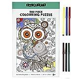 Puzzle de 500 Piezas para Construir y Colorear con 6 Rotuladores, 70x50cm - Manualidades, Actividad Creativa Divertida para Niños Adultos.