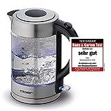 Cloer 4429 Glas Wasserkocher/Testsieger Haus und Garten 02.2019/2200...