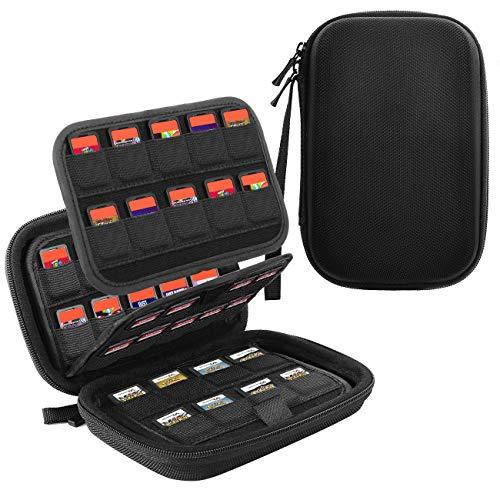 TiMOVO 112 Cartuchos Funda de Juegos para Nintendo Switch Sony PS Vita Game Cards/SD Memory Cards y Nintendo 3DS/DS Game Cards, Caja Portátil de Almacenamiento Organizador de Juegos - Negro