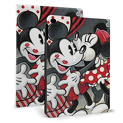 Funda para iPad Pro 9.7 Mickey Mouse iPad Flip Cover es adecuado para 6ª/5ª, generación con auto Sleep/Wake Ultra Slim Ligero Stand Funda de cuero