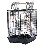 Cage à Oiseaux Portable, Cage Oiseaux Interieur avec Poignée et...