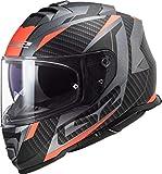 LS2 Casco de moto FF800 Storm Racer Titanium Fluo Naranja, talla L