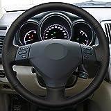 XIAOBAOBEI Housse de Volant en Cuir PU Souple Noir Cousu à la Main pour Lexus RX400h RX330 RX400 2004-2007 Toyota Corolla Verso Camry-Grey_Thread