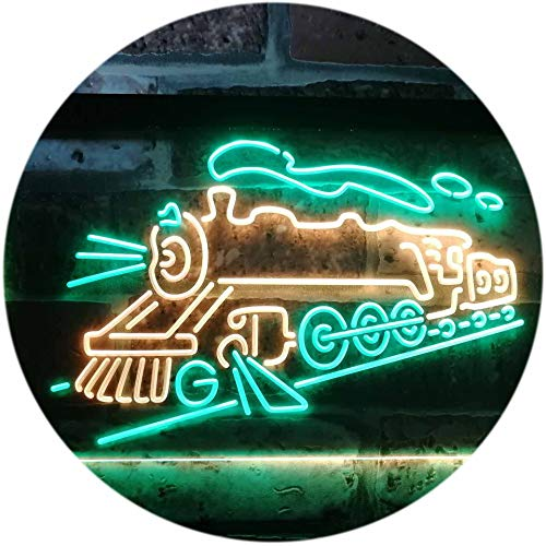 ADV PRO Train Lover Kid Room Decoration Display Dual Color LED Enseigne Lumineuse Neon Sign Vert et Jaune 300 x 210mm st6s32-i3184-gy