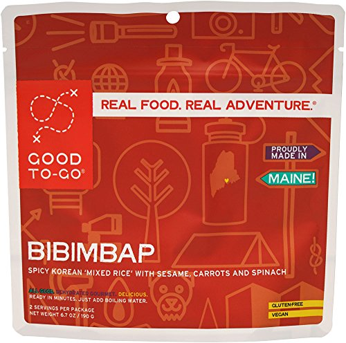 GOOD TO-GO Bibimbap - Double Serving | Dehydrated Backpacking and Camping Food | Lightweight | Easy to Prepare