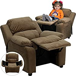 deluxe heavily padded kids recliner
