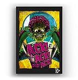 Mars Attacks, película de Tim Burton - Pintura Enmarcado Original, Imagen Pop-Art, Impresión Póster, Impresion en Lienzo, Cuadro, Cómics, Cartel de la Película, Ciencia Ficción