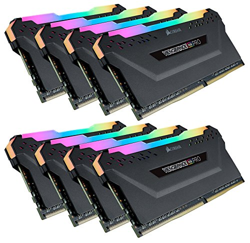 Corsair Vengeance RGB Pro 128GB (8x16GB) DDR4 3200 (PC4-25600) C16 Desktop Memory - Black