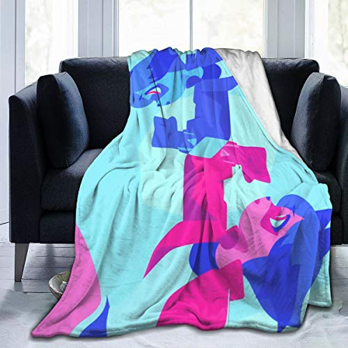 Casual Blankets, Bna Animal Michiru Kagemori Soft Sofa Throw, Personalized Lightweight Fuzzy Blanket for Travel Living Room Bed 60X50 in