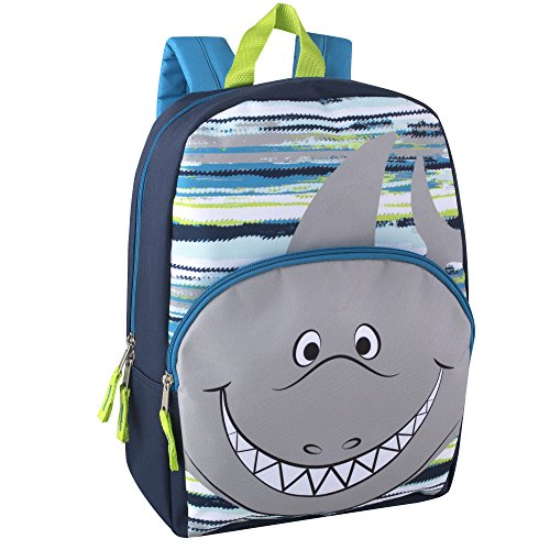 Animal Friends Critter Backpacks With Reinforced Straps SHARK