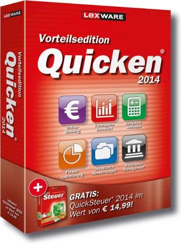 Preisvergleich Produktbild Lexware Quicken 2014 Vorteilsedition- Persönlicher Finanzmanager (Version 21.00) inkl. QuickSteuer 2014