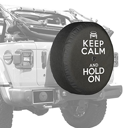 Boomerang - 32' Soft JL Tire Cover for Jeep Wrangler JL (with Back-up Camera) - Sport & Sahara (2018-2020) - Keep Calm Hold On