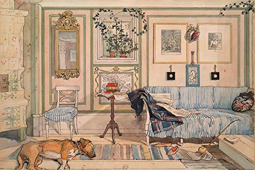 1art1 Carl Larsson - Mein Wohlfühl-Zimmer, 1894 XXL Poster 120 x 80 cm