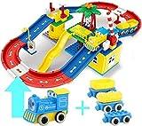 Race Tracks Train Toy Set, DIY Montar Robot Car Building Blocks Kit de Modelo de Juguete, Big Track Building Blocks para Mayores de 3 años Niños Niñas Niños Regalo de cumpleaños para niños (Tamaño: