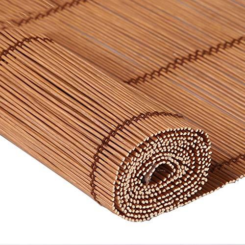 JIAYUAN rolgordijnen van bamboe, rolgordijn voor tuingramen, patio, galerie, balkon, interieur gratis, meerdere maten Romeinse rolgordijnen 150x210CM