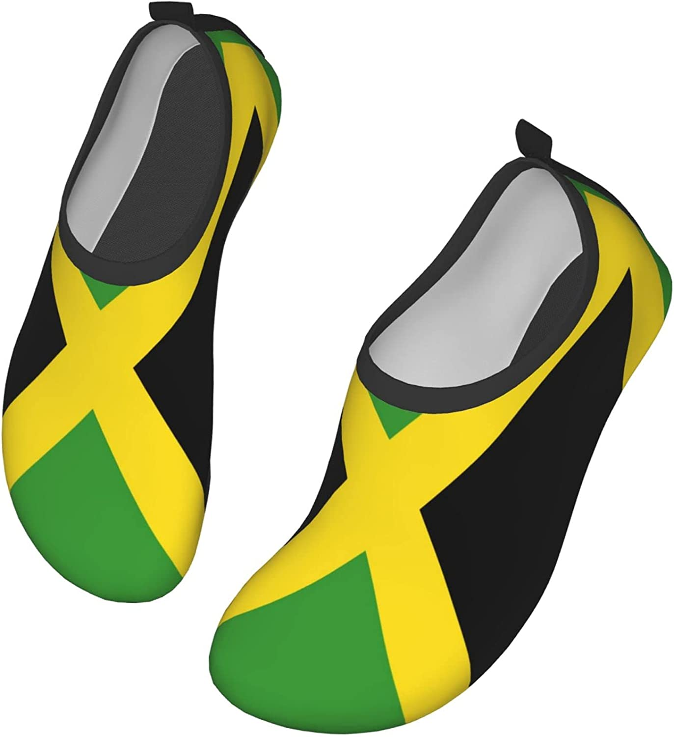NCHOME Water Sport Shoes Simplify Flag Green and Black Barefoot Shoes Breathable Quick-Dry Water Athletic Shoes Comfortable Slip-On Aqua Socks for Man Woman Kids