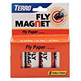 Attracts and traps flies. No baiting, no odor, no mess Easy-to-use ribbon design Conveniently disposable Includes 8 Fly Paper Tubes