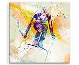 Ski Alpin II 60x60cm Wandbild SPORTBILD Aquarell Art tolle