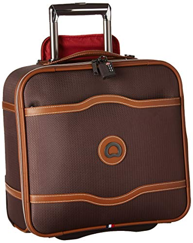 DELSEY Paris Chatelet Soft Air Luggage Under-Seater with 2 Wheels, Chocolate, Carry-on 16 Inch